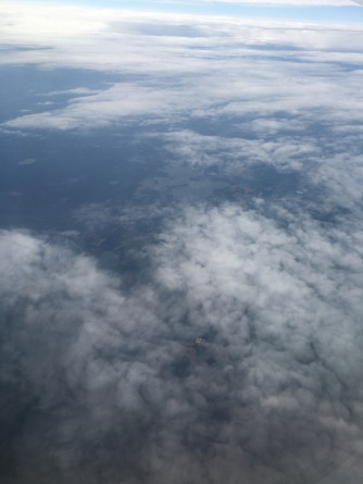 Similar to the last one, clouds and ground blend to form a picturesque view from the plane.