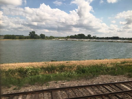 Beautiful river view from the train.
