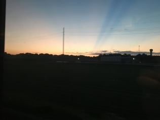 Sunset from the train.
