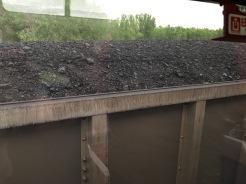 A coal car.