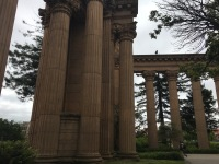 Pillars from the Palace of Fine Arts, originally created for the Chicago Worlds Fair.