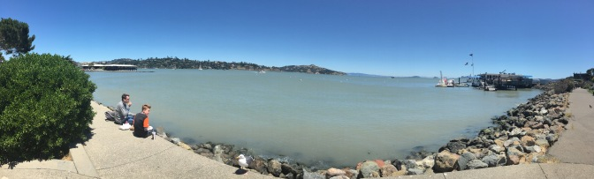 A view from the shore of Sausalito.
