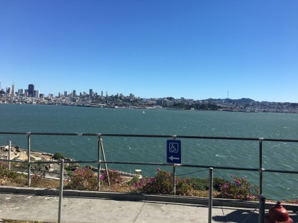 The view of San Francisco from Alcatraz island.