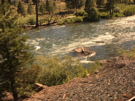 The rapids of a river our train, the California Zephyr, was following.