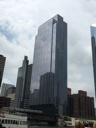 A view of Chicago's fascinating architecture from our Architecture River Cruise. This is one of my favorites- see how the bottom is in the shape of a v?