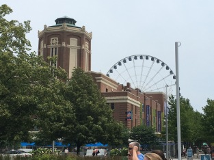 The entrance to Navy Pier.