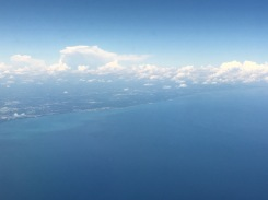 Very interesting clouds could be seen over Lake Michigan.