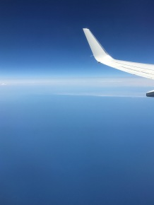 Nothing but blue over Lake Michigan.