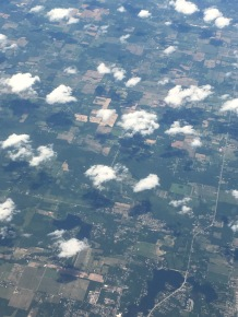 Countless puffy, little clouds.