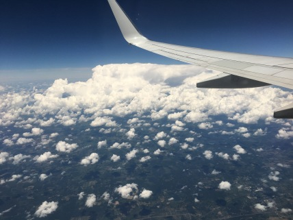 A stunning view from above the clouds.