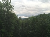 A view of the White Mountains from my bedside window during our trip to New Hampshire.