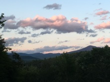 A view of the White Mountains during a sunrise from my bedside window during our trip to New Hampshire.