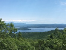 A view of Lake Winnepesauke while hiking Mount Major during our trip to New Hampshire.