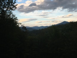 A view of the White Mountains amidst a sunset during our trip to New Hampshire.