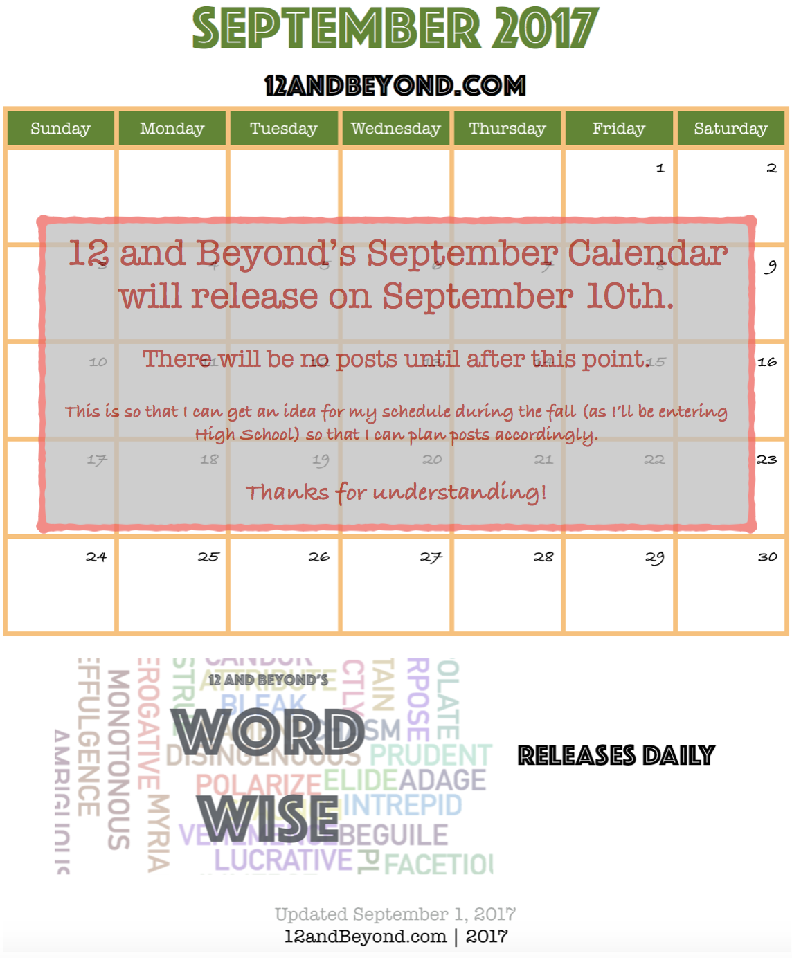 Oh no! Something went wrong, and the post calendar can't be viewed. Try refreshing the page!