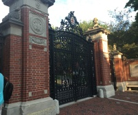 The entrance to Brown University, which we briefly toured.